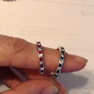 Jewelry - Sterling silver and crystal rings